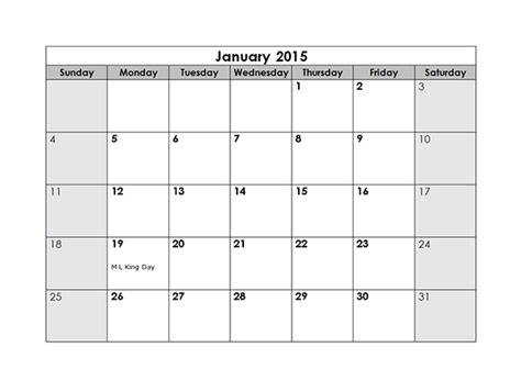 monthly calendar  printable templates
