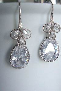 wedding jewelry cubic zirconia dangle earrings With earrings for wedding dress