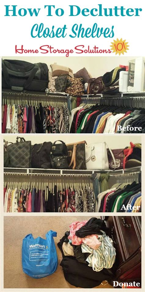 how to declutter closet shelves drawers