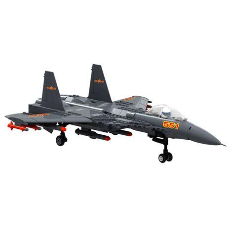Shenyang Fighter Military Building Block Plane