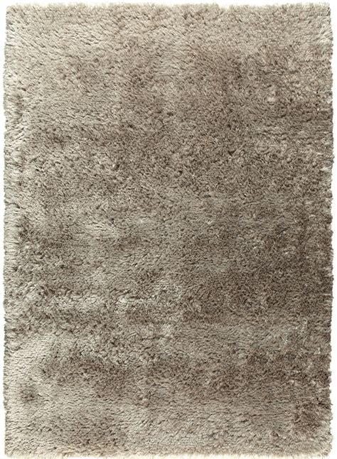 tapis tres hautes meches adore 2 taupe de la collection ligne