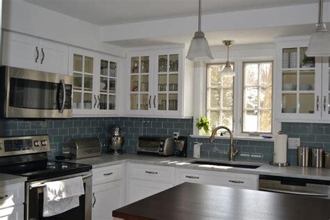 blue tile backsplash kitchen bukit