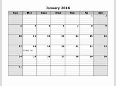 2016 Monthly Calendar With Lines * Calendar Printable Template
