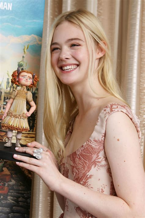 elle fanning  boxtrolls  press conference