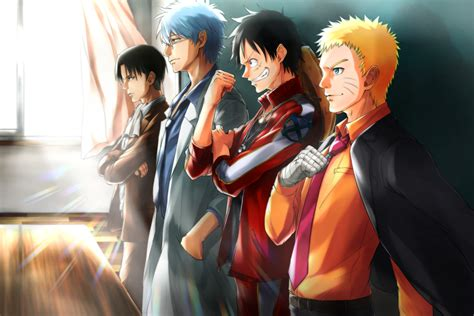 Naruto and luffy 1080p wallpaper. Crossover HD Wallpaper | Background Image | 3000x2000 | ID ...