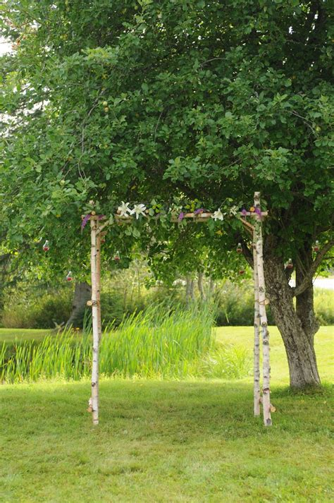 diy birch wedding arch arbor pinterest arches wedding  birches