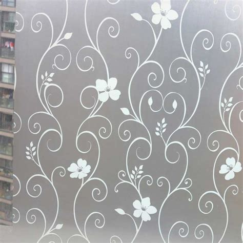 """35"""" Flower Decorative Window Film  Self Adhesive Frosted"""