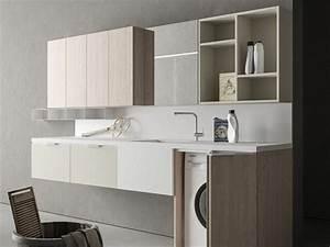 Waschmaschine Unter Waschbecken : praktische designer schr nke f r hauswirtschaftsraum ~ Watch28wear.com Haus und Dekorationen