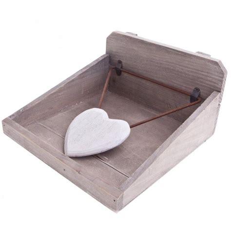 gisela graham wooden heart napkin holder p zoomjpg