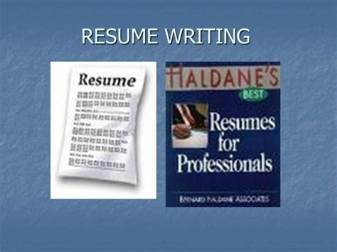 Resume Writing Powerpoint Slides by Resume Writing Authorstream