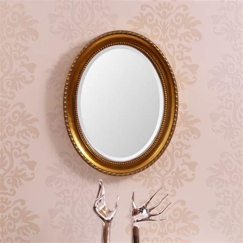 Oval Baroque Wall Mirror  White  Antique Design, Baroque