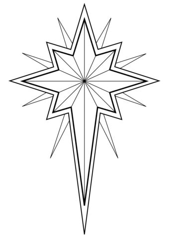 christmas star coloring page  printable coloring pages