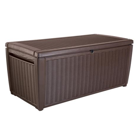 Keter Deck Box Home Depot by Keter Sumatra 135 Gal Resin Storage Deck Box 220941 The