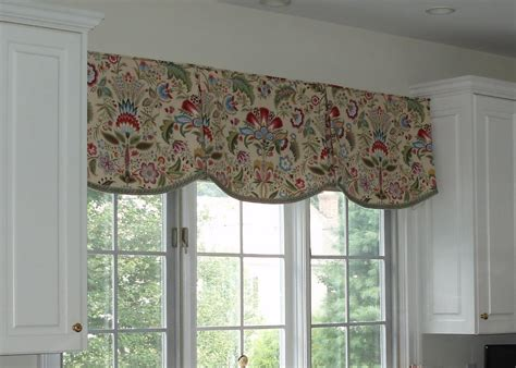 curtains kitchen window ideas valances kitchen scalloped valance by sue sson a