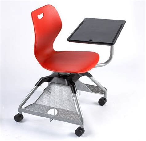 student rolling desk chair red classroom chair with storage and rolling desk on