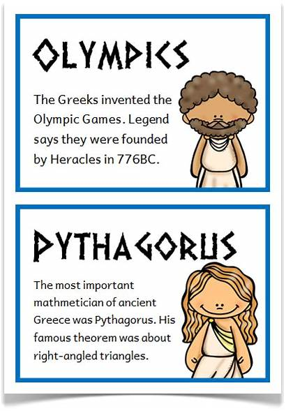 Facts Ancient Greece Greek Interesting Greeks Cards