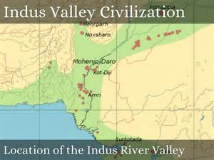 Indus River Valley Civilization Map