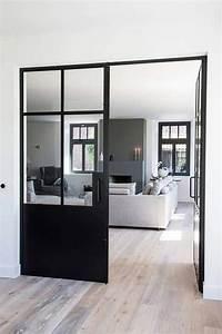 Fenetre Alu Noir : portes fenetres aluminium noir style atelier verriere ~ Edinachiropracticcenter.com Idées de Décoration