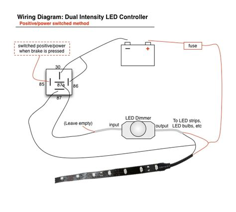led brake running light controller diagram oznium