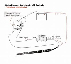 Wiring Led Brake Lights    Running Light Controller Diagram