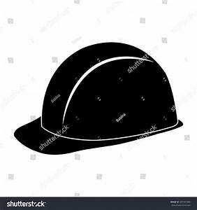 Safety Hard Hat Black Vector Icon Stock Vector 209187280 ...