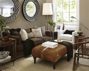 Braunes Sofa Welche Wandfarbe : braunes wohnzimmer 35 super ideen ~ Watch28wear.com Haus und Dekorationen