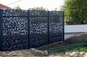 Claustra Beton Blanc : gamme palissade alu mod le laurus grillages wunschel ~ Melissatoandfro.com Idées de Décoration