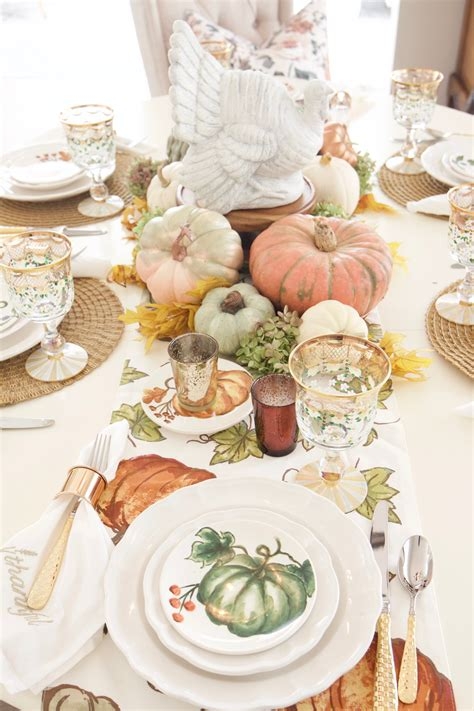 Festive Fall Tables by Festive Fall Tablescape For A Casual Thanksgiving Dinner
