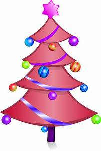 Pink Christmas Tree Clipart (16+)