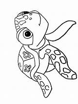 Coloring Pages Squirt Crush Nemo Finding Printable Cartoon Recommended sketch template
