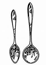 Spoon Soup Coloring Spoons Clipart Kitchen Cooking Utensils Clip Drawing Line Terms Printable Ladle Nails Shaped Cliparts Clipartpanda Library Pages sketch template