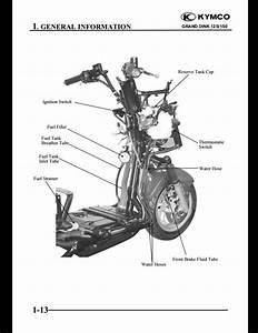 Kymco Grand Dink 125  150 Motocycle Service Repair Workshop