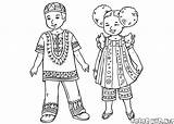 Children Coloring African Zealand Pages Clothing Father Traditional Around sketch template