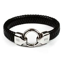 his and hers wedding gifts personalised 39 s infinity leather bracelet treat republic