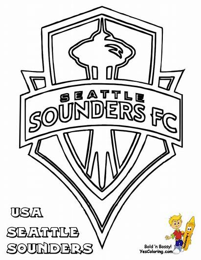 Sounders Coloring Seattle Soccer Pages Sheets Chivas