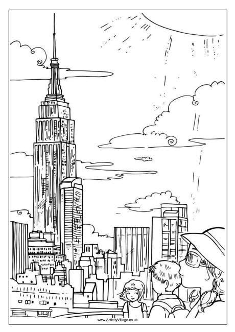 coloring pages new york city | Coloring pages, Super