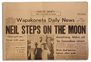 Newspaper Article 1969 Neil Armstrong U S - Pics about space