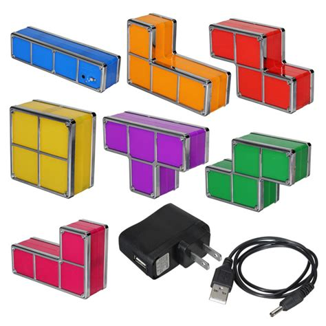 tetris stackable led desk l ebay tetris stackable led desk l cernel designs