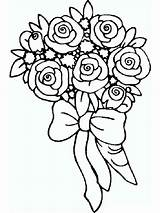 Coloring Pages Rose Printable Flower Flowers Colors Mycoloring Recommended sketch template