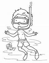 Diver Sea Coloring Pages sketch template