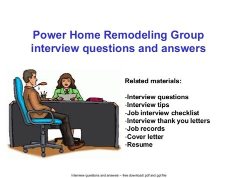 power home remodeling group interview questions  answers