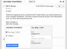 Gmail now lets you add calendar events straight from your