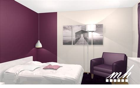 peinture violette pour chambre décoration chambre couleur prune