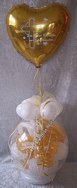 geschenk im ballon ballondekoration geldgeschenk