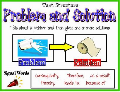 Problem Solution Text Structure Grade Features Words