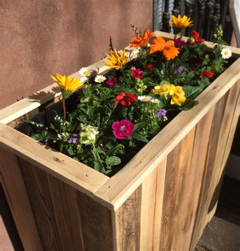 reclaimed pallet wood planter box  streetwood  etsy