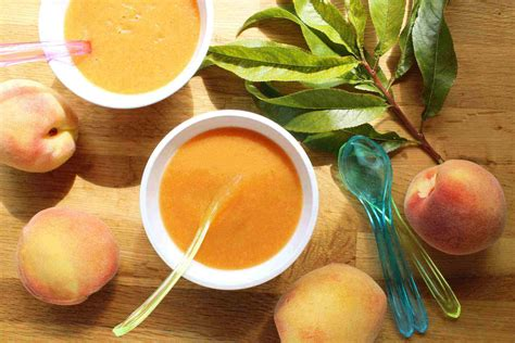 peach sauce  baby food story   kitchen