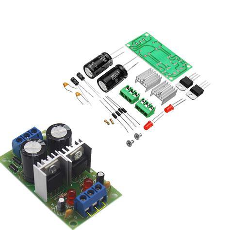 diy lm7812 lm7912 dual voltage regulator rectifier bridge power supply module 5v 12v kit
