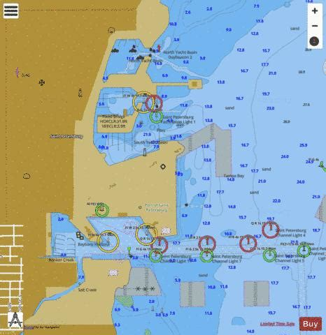 tampa bay northern section st petersburg inset marine chart usp nautical