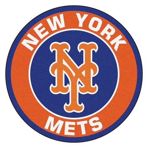Real Tree Camo Wallpaper New York Mets Logo Roundel Mat 27 Quot Round Area Rug